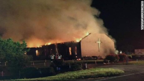 Firefighters on scene at church fire in South Carolina