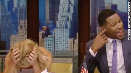 Alarm interrupts Kelly Ripa and Michael Strahan Daily Hit NewDay _00004015