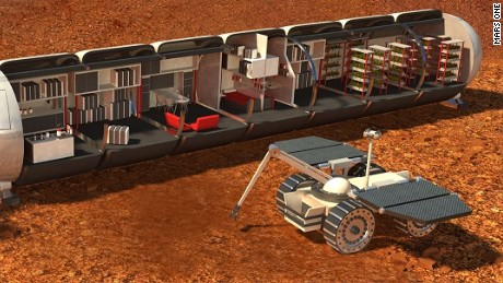 Humans colonizing Mars would live in modules with meticulous life support systems