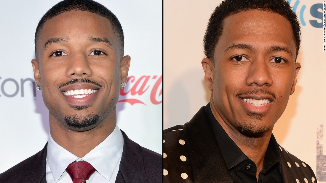 "Actor Michael B. Jordan, left, sometimes gets confused with TV host Nick Cannon. Jordan, 28, plays a boxer in the upcoming ""Creed,"" a ""Rocky"" spinoff, while Cannon, 34, was famously married to singer Mariah Carey. Click through the gallery for more interchangeable celebs; some look alike while others are just mistaken for one another because of similar backgrounds or personas."
