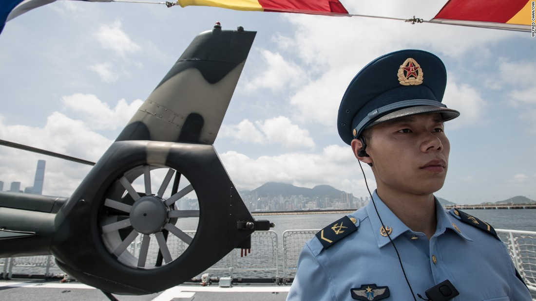 While troop numbers remain constant, the garrison's personnel are frequently rotated in and out of Hong Kong.