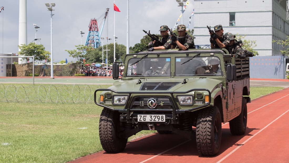 For many Hong Kongers, the sight of PLA vehicles still evokes memories of the 1989 Tiananmen Square crackdown, when Chinese soldiers opened fire on student protesters in Beijing.