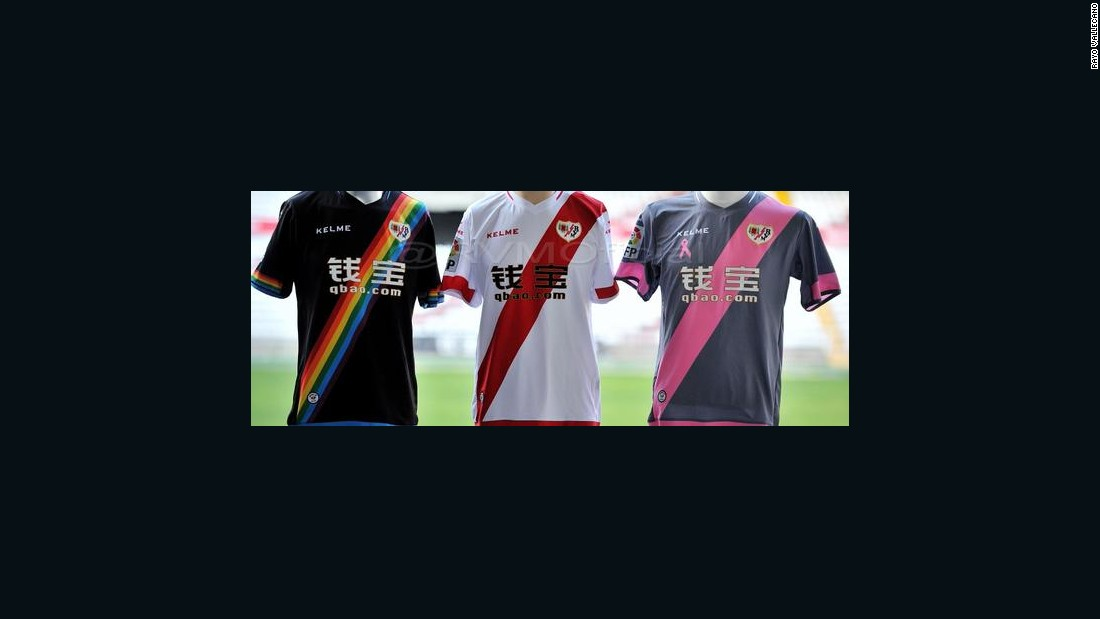 Rayo Vallecano unveiled its new strips for next season -- and its rainbow version brought about huge support on social media. Its sash consists of six different colors representing different causes within society. The rainbow represents those fighting against homophobia.