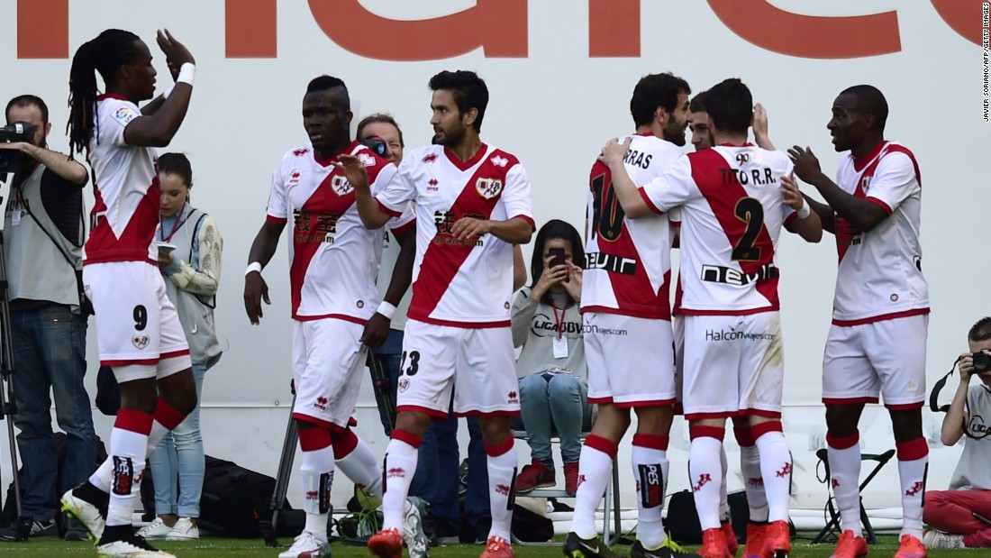 Rayo, based in Madrid, is dwarfed by its neighbors Atletico and Real. It has one of the smallest budgets in Spain's La Liga but still managed to finish 11th last season.