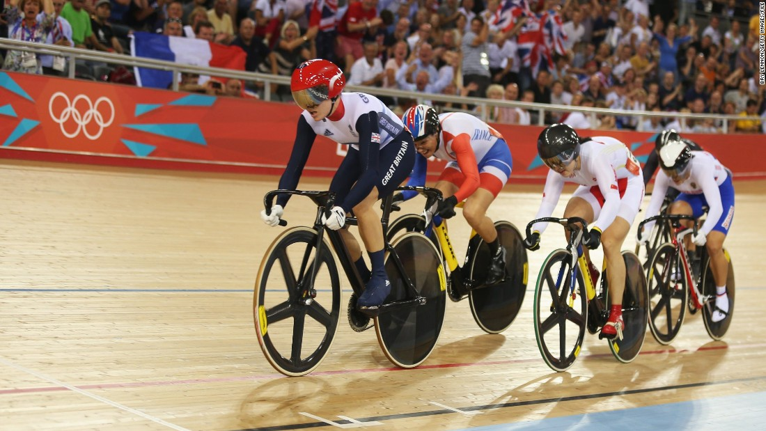 Pendleton has spent most of her career as the leader of the pack in the velodrome, like here (left) at the 2012 London Olympics where she won a gold medal in the Keirlin.