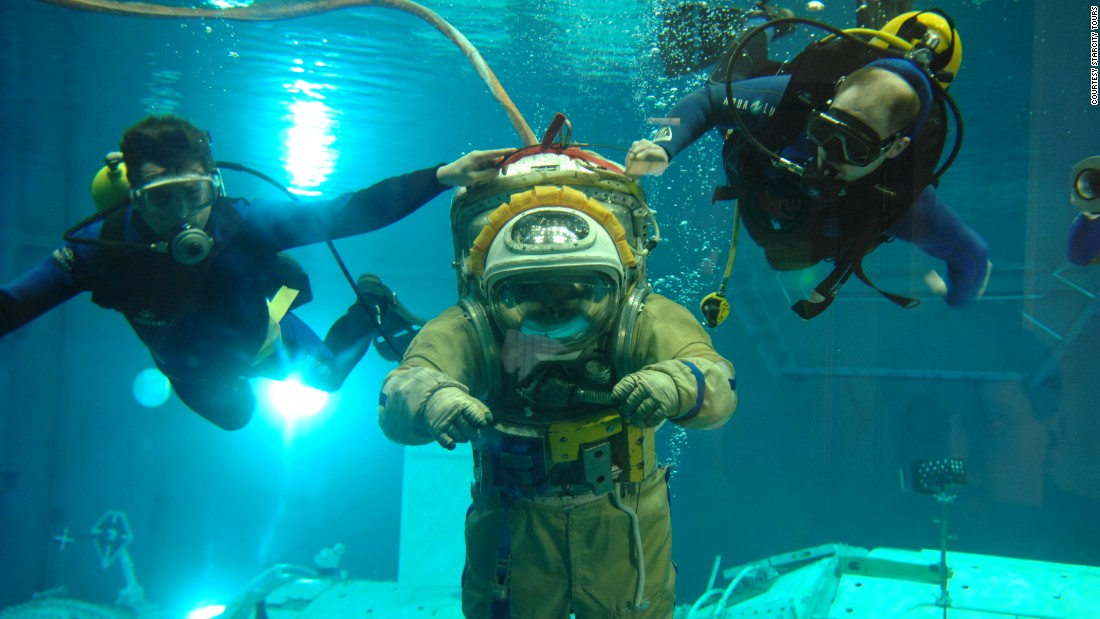 Visitors can experience what it might be like to work on the surface of the ISS, by diving into the site's Neutral Buoyancy Laboratory.