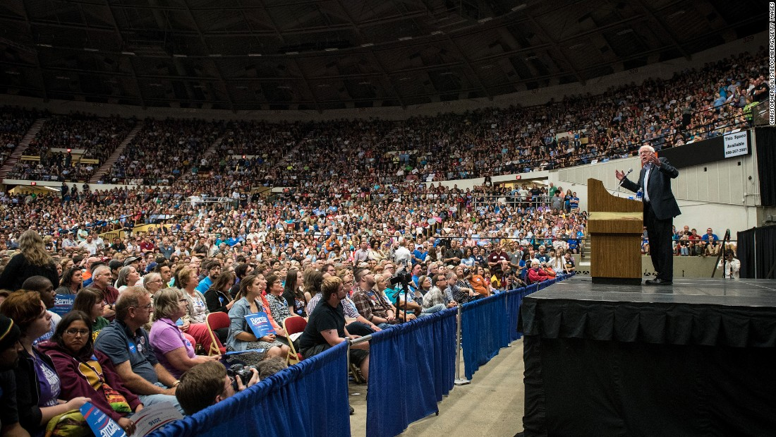 "U.S. Sen. Bernie Sanders, an independent from Vermont who is seeking the Democratic nomination for President, <a href=""http://www.cnn.com/2015/07/01/politics/bernie-sanders-crowds-wisconsin-2016/index.html"" target=""_blank"">speaks to nearly 10,000 supporters</a> in Madison, Wisconsin, on Wednesday, July 1. <a href=""http://www.cnn.com/2015/05/05/politics/gallery/2016-election-presidential-contenders-democrats-republicans/index.html"" target=""_blank"">See all the candidates running for President</a>"