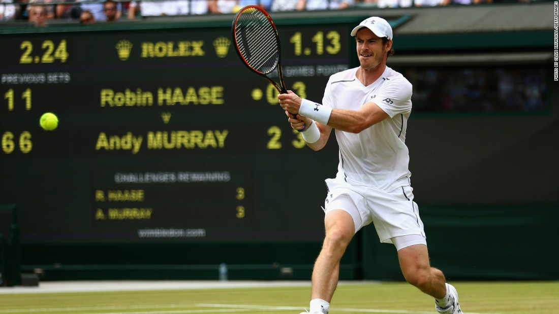 British third seed Andy Murray also won in three sets against Dutchman Robin Haase.