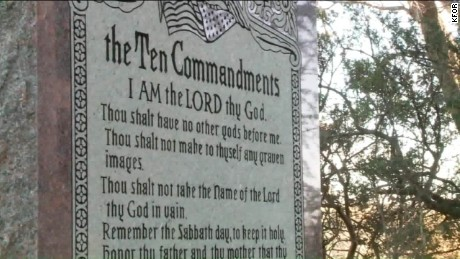 oklahoma ten commandments monument to come down pkg_00003321
