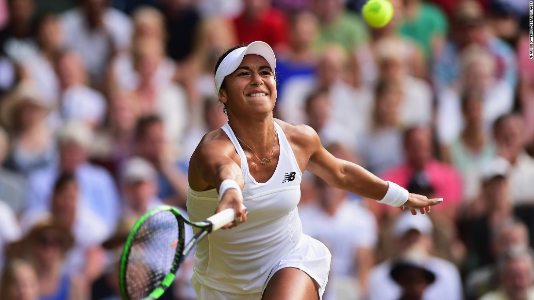 Heather Watson gave world No. 1 Serena Williams all she could handle at Wimbledon on Friday. She led 3-0 in the third set.