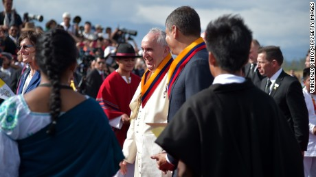 Pope Francis tours South America