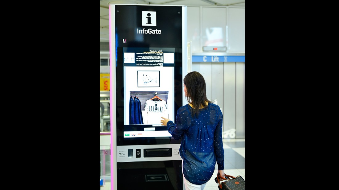 "With the touch of a finger, passengers can tap a ""you are here"" display and InfoGate's interactive signs give directions."
