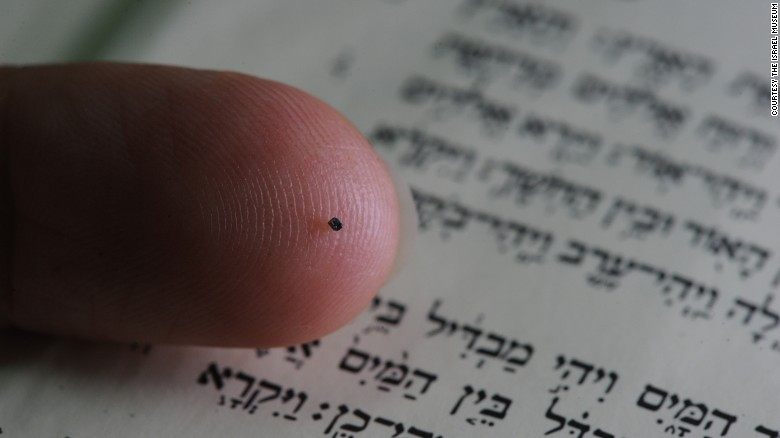 World's smallest Bible fits on the tip of a pen
