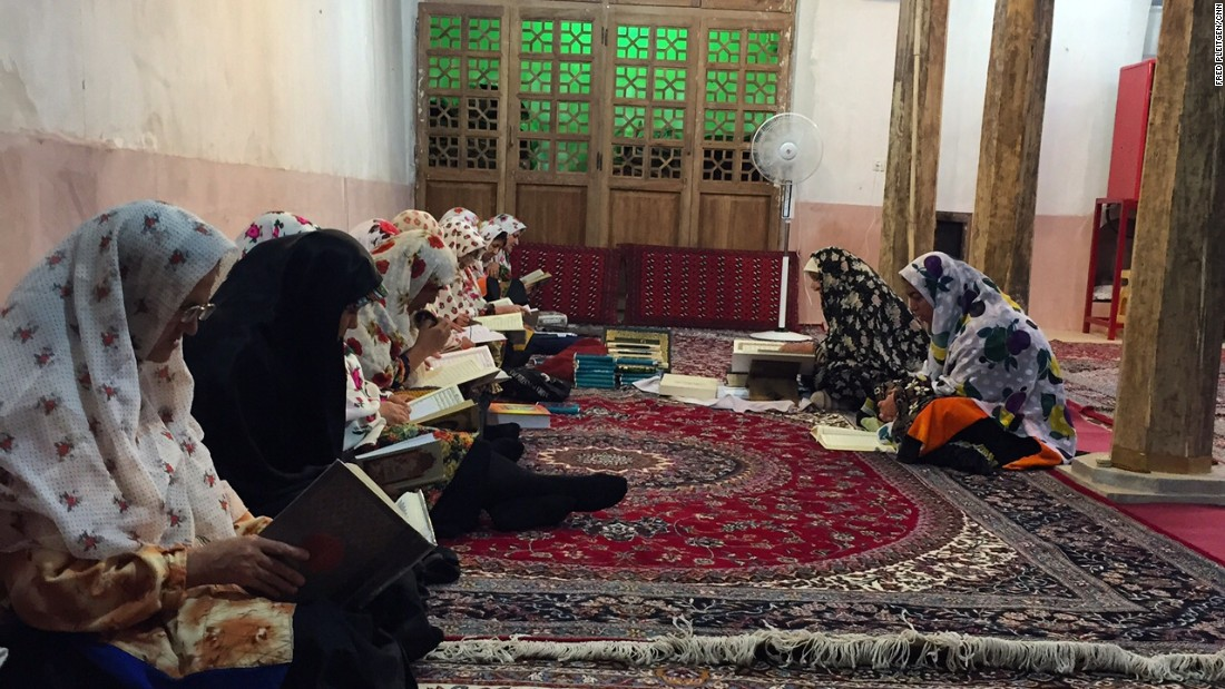CNN manages to get access to a women-only lesson on the Quran, the Muslim holy book, at the biggest and oldest mosque in the village.