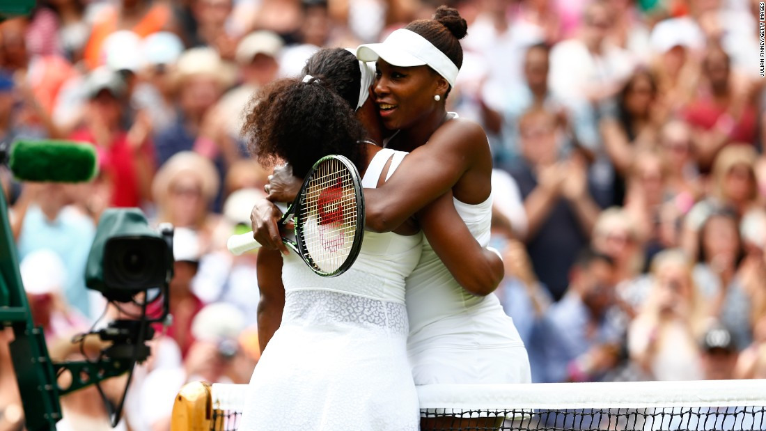 The match itself wasn't that close. Serena beat Venus in straight sets, showing little of the uncertainty that plagued her play Friday against Heather Watson.