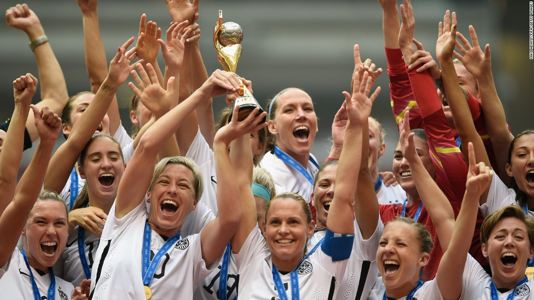 "The U.S. soccer team celebrates after <a href=""http://www.cnn.com/2015/06/12/football/gallery/usa-highlights-womens-world-cup/index.html"" target=""_blank"">winning the Women's World Cup</a> on Sunday, July 5. Carli Lloyd scored a hat trick as the Americans defeated Japan 5-2 in Vancouver, British Columbia. The United States has now won three Women's World Cups -- more than any other nation."