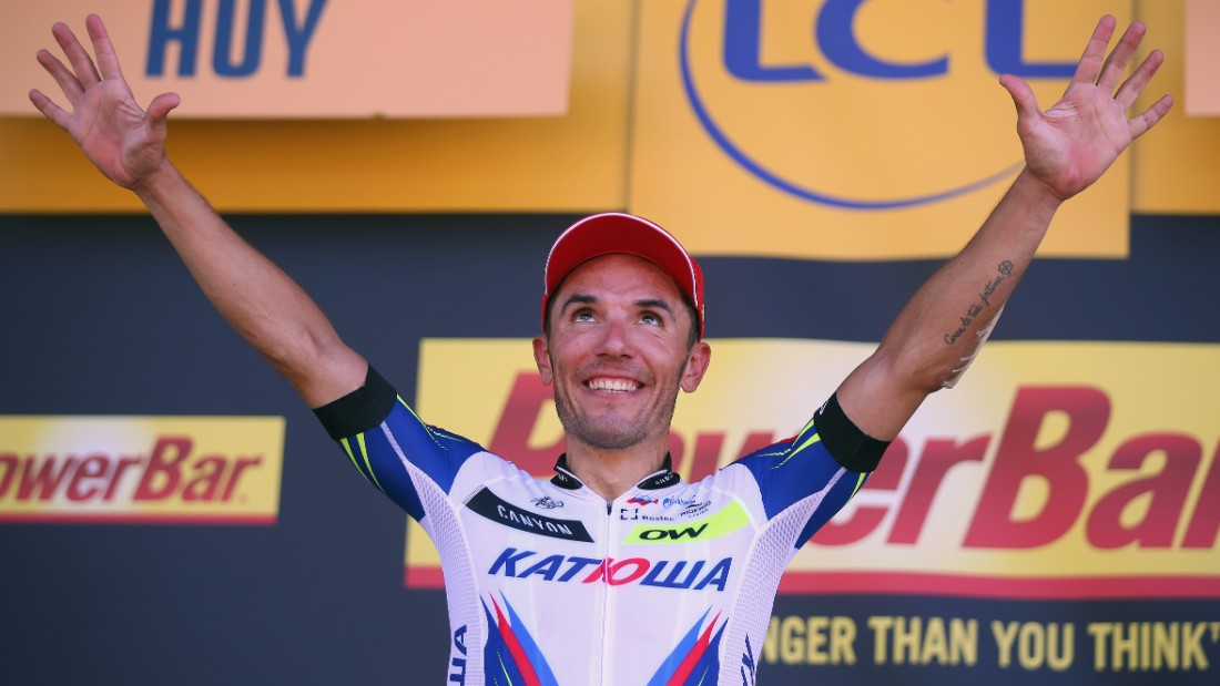Spain's Joaquin Rodriguez Oliver, rider for Team Katusha went on to win the stage ...