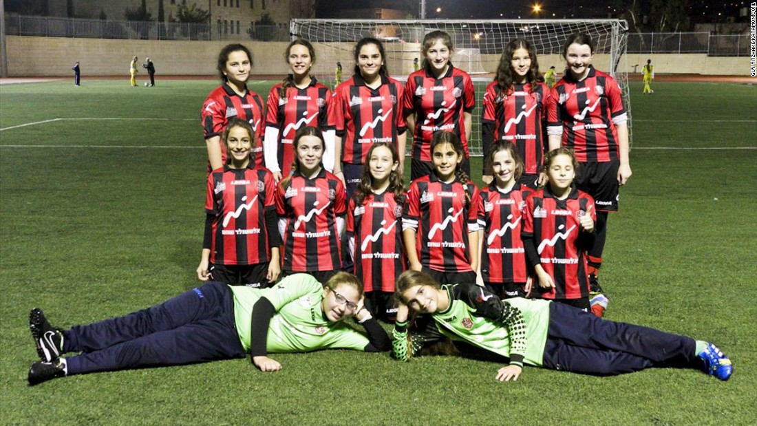 The Hapoel Katamon girls' team comprises of youngsters from Jewish settlements such as Efrat,  as well as Muslims and Christians who live in East Jerusalem. The girls compete in a national league against teams from across the country.<br />