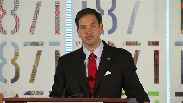 Rubio: Race to future will never be won on 'Clinton's time machine'