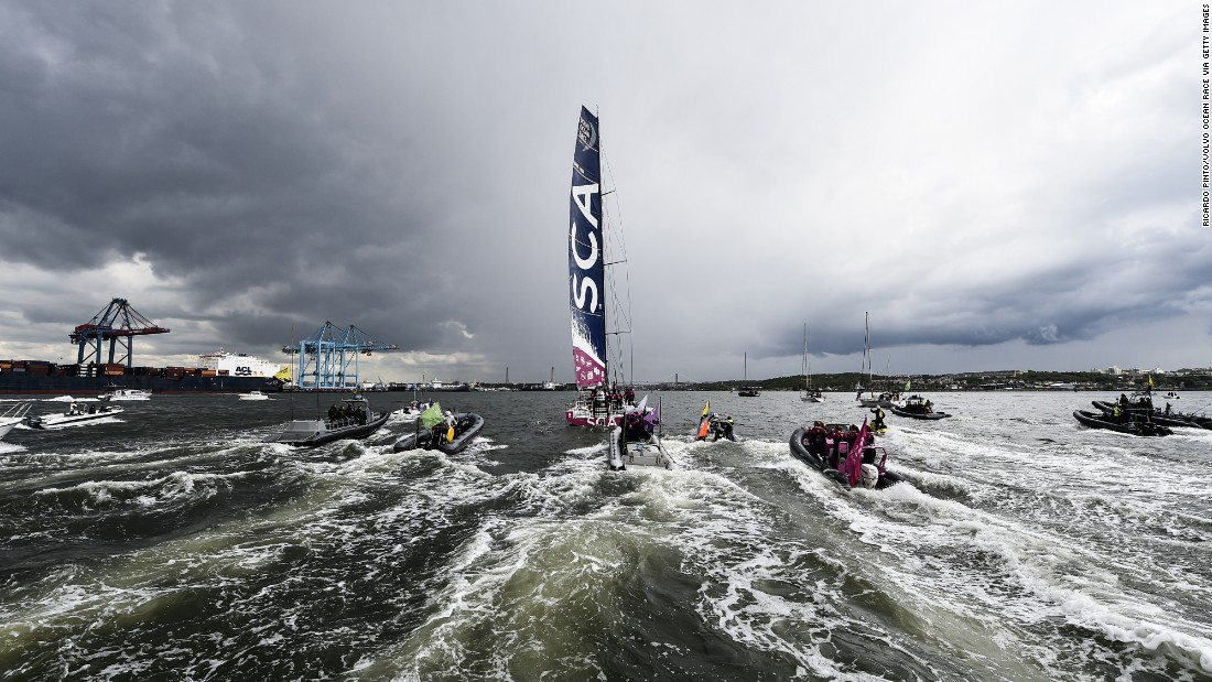 Team SCA became only the fourth female crew in history to compete in the race.