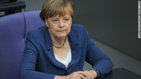 German Chancellor Angela Merkel attends a session of the Bundestag on July 3, 2015 in Berlin, Germany. The Bundestag wrestled with the Greek debt crisis earlier in the week and Merkel is refusing to conduct further negotiations with the Greek government until after the Greek referendum scheduled for this coming Sunday. The referendum gives the Greek population the opportunity to vote for or against acceptance of reforms demanded by the troika of the European Central Bank, the International Monetary Fund and the European Commission.