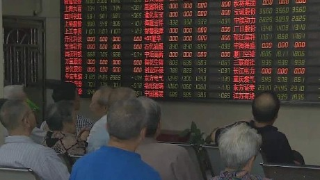 Panic sell-off in Chinese stocks