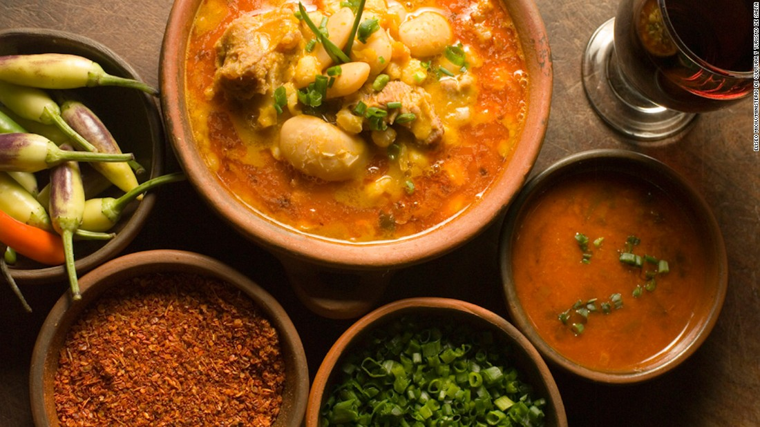 Locro is a national dish traditionally served on May 25 to mark Argentina's May Revolution. The hearty stew is made from white corn, beef or pork, tripe and red chorizo, as well as other vegetables.