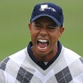 Tiger Woods roar