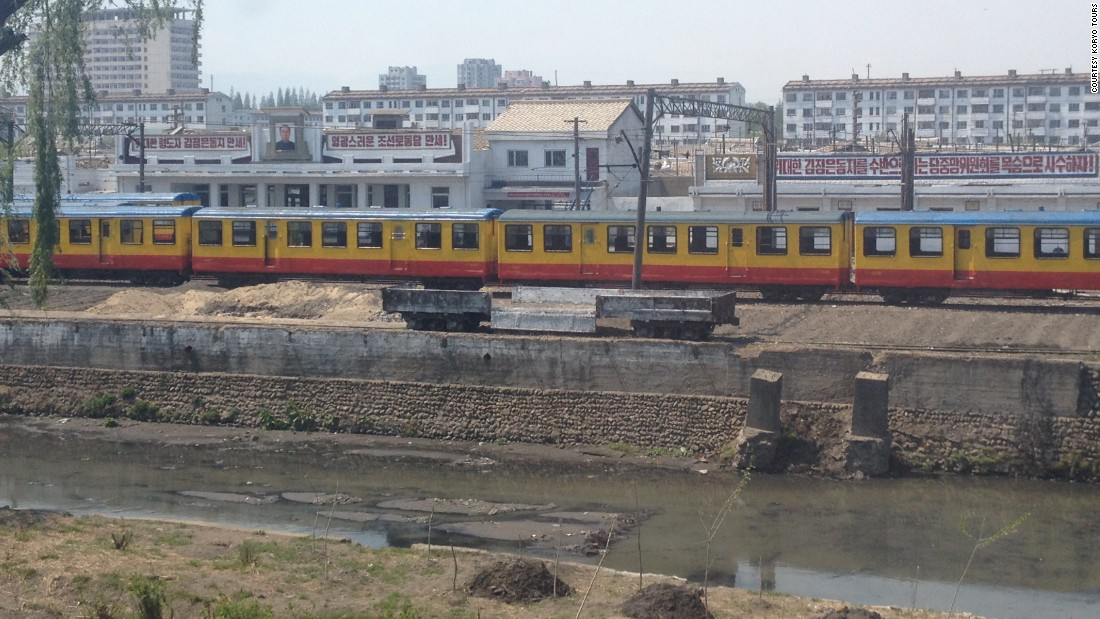 During Koryo's first train tour, last year, the group rode past this narrow gauge train. Its carriages were once used in the Pyongyang Metro.