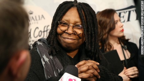 NEW YORK, NY - APRIL 24: Actress Whoopi Goldberg attends Variety's Power Of Women New York Brought To You by Barbie at Cipriani 42nd Street on April 24, 2015 in New York City.  (Photo by Monica Schipper/Getty Images for Variety)