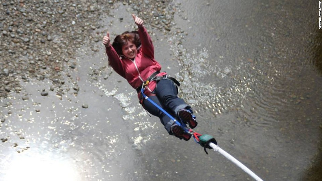 Bungee jumping was the first experience to kick start Laura Lawson's bucket list to change her life. Click through the gallery to see more of her achieved bucket list items: