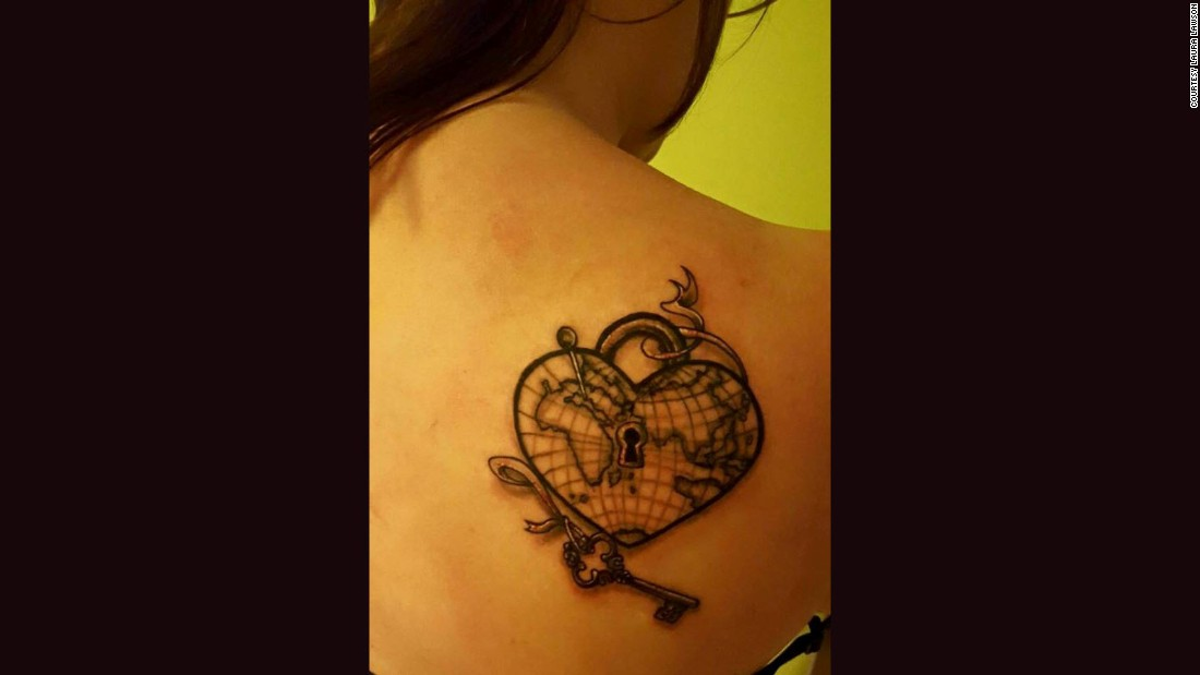 Lawson got her first tattoo while visiting Florida, her favorite travel destination. She lives in Aberdeen, Scotland.