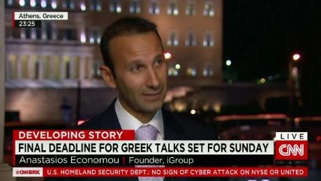 exp Anastasios Economou, Founder iGroup, talks to Richard Quest _00002001