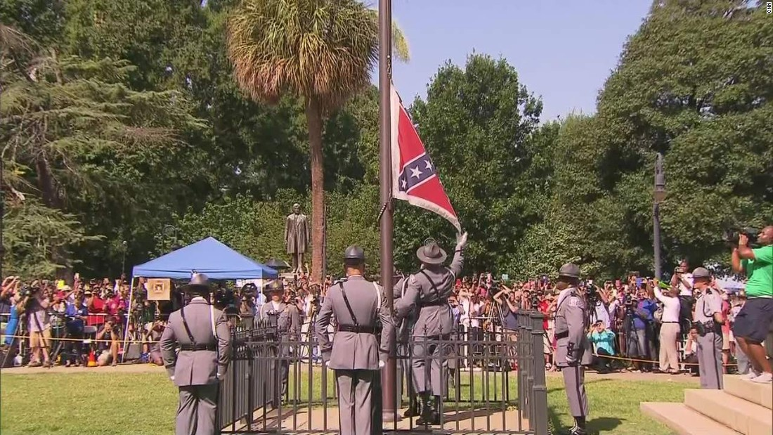 "After flying for 54 years on South Carolina's Capitol grounds, it took only a moment to <a href=""http://www.cnn.com/2015/07/10/us/south-carolina-confederate-battle-flag/"" target=""_blank"">take down the Confederate flag</a> on July 10, 2015. Years of deep-rooted controversy over the banner gained steam after the June massacre of nine black churchgoers in Charleston. ""This flag, while an integral part of our past, does not represent the future of our great state,"" Gov. Nikki Haley said as she called for its removal."