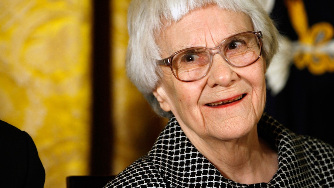 Caption:WASHINGTON - NOVEMBER 05: Pulitzer Prize winner and 'To Kill A Mockingbird' author Harper Lee smiles before receiving the 2007 Presidential Medal of Freedom in the East Room of the White House November 5, 2007 in Washington, DC. The Medal of Freedom is given to those who have made remarkable contributions to the security or national interests of the United States, world peace, culture, or other private or public endeavors. (Photo by Chip Somodevilla/Getty Images)