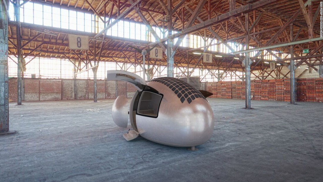 The capsule fits in a shipping container allowing it to be transferred anywhere.