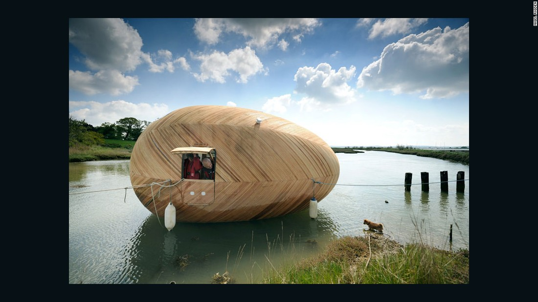 The egg shape is proving a popular for eco-friendly housing, as with British artist Stephen Turner's 'Exbury Egg' design.