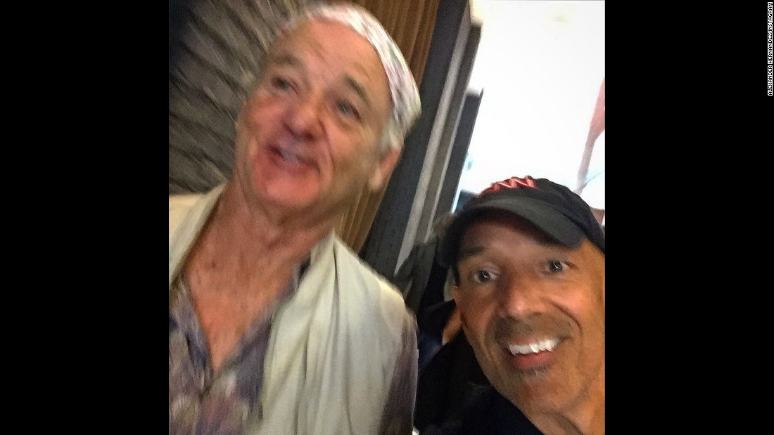One of the most elusive celebrities, Bill Murray, stole the show in the opening hours of the convention, and Alexander Hernandez was able to grab a second with him on camera.