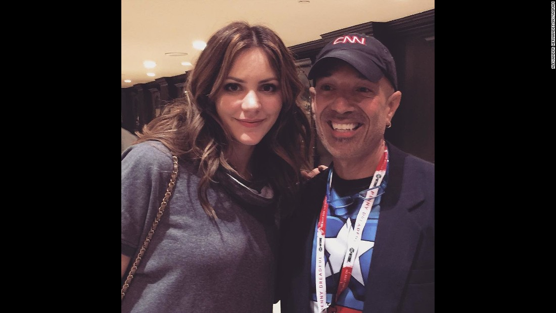 "Katharine McPhee, currently on CBS' ""Scorpion,"" met Alexander Hernandez as well."