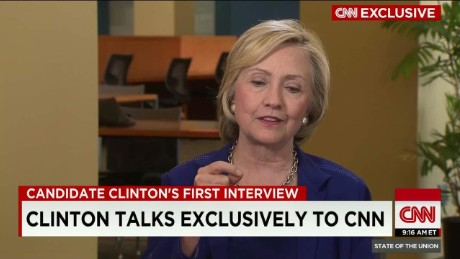 SOTU: Hillary Clinton Talks Exclusively to CNN _00015228
