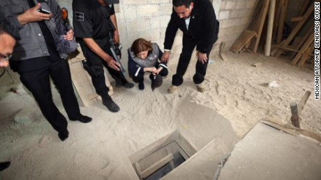 The tunel that el Chapo used to escape