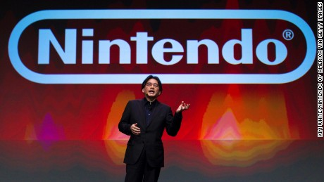 Satoru Iwata, president of Nintendo, gives the keynote address at the Game Developers Conference in March 2011 in San Francisco.
