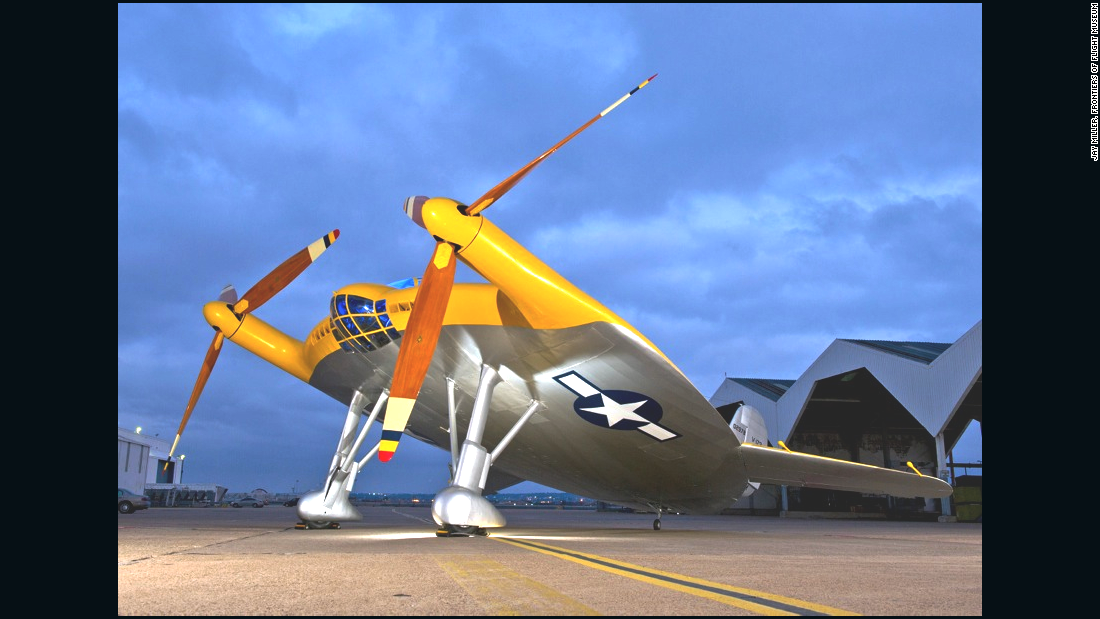 "Known as the ""Flying Pancake,"" the Vought V-173 was designed during World War II to take off on short runways."