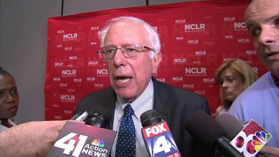 "Presidential hopefuls paid unprecedented attention to the nation's Hispanic population in 2015. Both Democrats and Republicans were outspoken about how to tackle immigration from Mexico and Central America. Vermont Sen. Bernie Sanders, seen here, was among three Democratic hopefuls who spoke at <a href=""http://www.cnn.com/2015/07/13/politics/bernie-sanders-la-raza-conference-2016-clinton/index.html"">the annual meeting of the National Conference of La Raza</a>, a Latino civil rights group, in July."