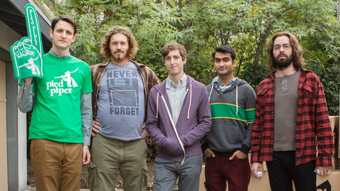 The HBO comedy 'Silicon Valley,' starring Zach Woods, T.J. Miller, Thomas Middleditch, Kumail Nanjiani and Martin Starr, earned 10 Emmy nods. The show is nominated for outstanding comedy series.