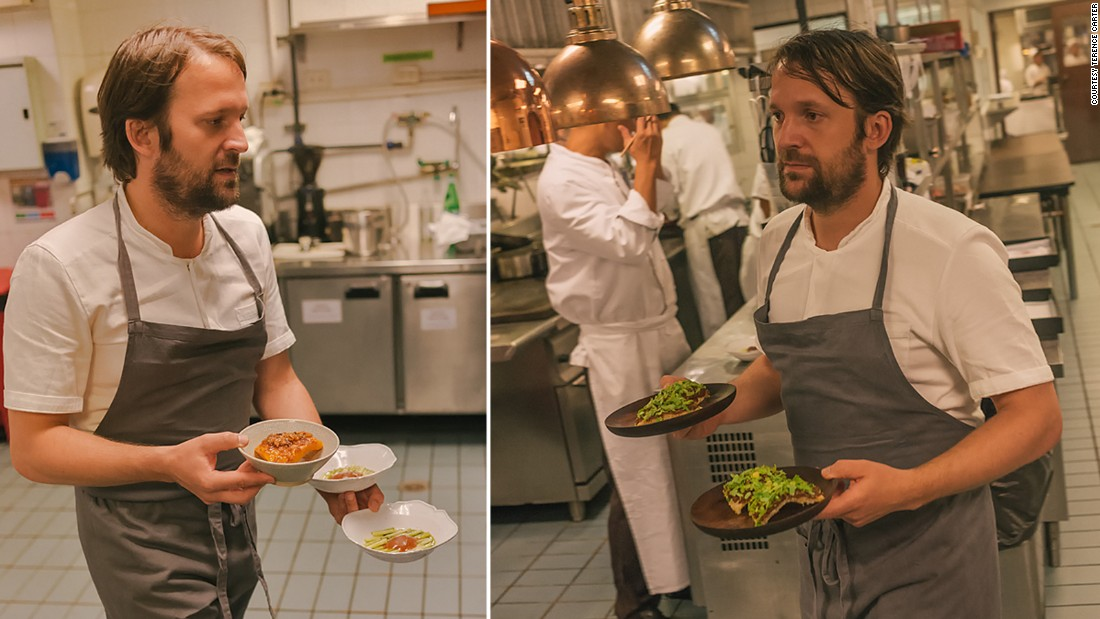 The fact that most of the Nahm chefs only spoke Thai meant that Redzepi and his Noma sous-chefs had to give up their places at the pass and let the Nahm chefs call the orders. So as service got underway, Redzepi decided to start running plates to the tables, a job he performed all night, chatting with the often-startled guests in between solving problems and motivating his team. It's not every day that one of the world's best chefs is your 'waiter' for the evening.