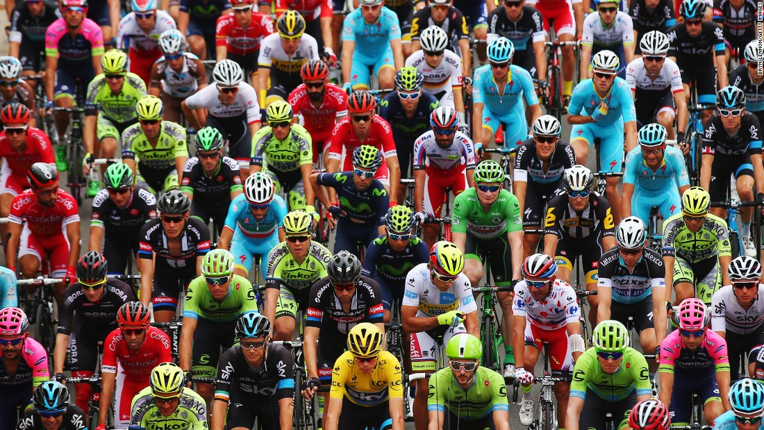 Cyclists begin the fourth stage of the Tour de France on Tuesday, July 7. Tony Martin won the stage, which began in Seraing, Belgium, and ended in Cambrai, France.