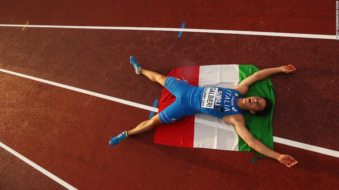"Italian sprinter Giovanni Galbieri celebrates after winning the 100-meter dash Thursday, July 9, at the European Under-23 Championships. <a href=""http://www.cnn.com/2015/07/07/sport/gallery/what-a-shot-sports-0707/index.html"" target=""_blank"">See 38 amazing sports photos from last week </a>"