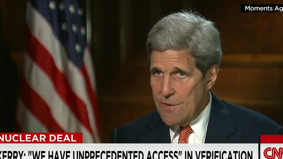 John Kerry discusses the Iran nuclear deal in an interview.