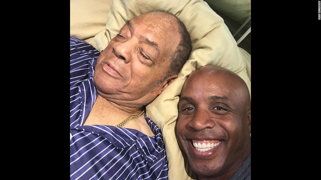 "Baseball's home run king, Barry Bonds, takes a selfie with a sleeping Willie Mays on Tuesday, July 14. Mays, a baseball legend in his own right, is also Bonds' godfather. ""I Love you and everything that you have done for me and my family Willie,"" <a href=""https://instagram.com/p/5G23tQul0j/"" target=""_blank"">Bonds said on Instagram.</a>"